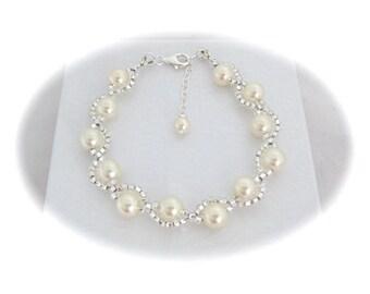 Bridal Bracelet Pearl Wedding Jewelry Bridal Jewelry Bracelet