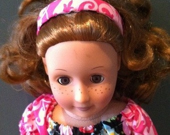 "boutique reversible 18"" american girl doll headband"
