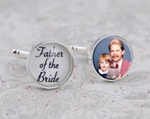 Father of the Bride Cufflinks, Custom Photo Cufflinks, Gift for Dad