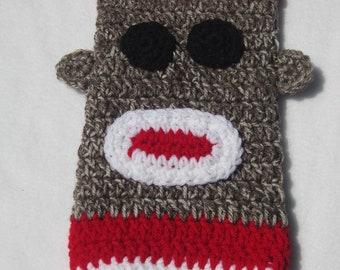 Sock Monkey Crochet Plastic Bag Holder, Walmart Bag Holder,