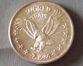 World Trade Unit Silver Bullion Round