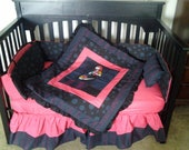 New 7 piece Nightmare Before Christmas SALLY baby Crib Bedding Set custom made to order