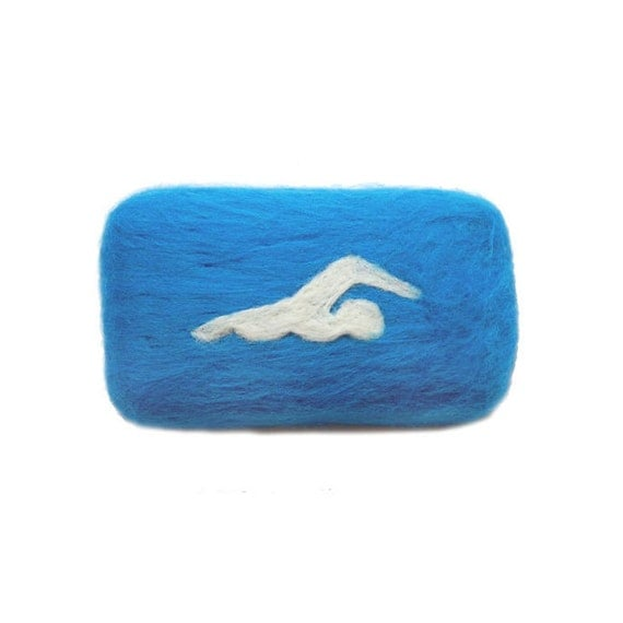 Felted Soap Olympic Sports Swimming ( Cold Water )