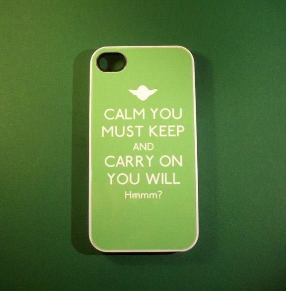 Star Wars Yoda inspired Keep Calm iPhone 4 / 4S case