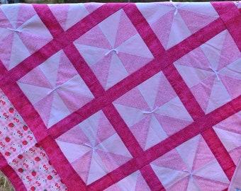 Hello Kitty Pinwheel Quilt
