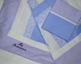 My Princess Baby Quilt with pillowcase