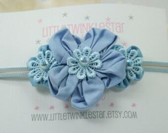 Trio silk  flower headband