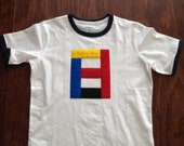 3D Lego block Ringer T-Shirt/kids clothing/boys/girls/lego/block