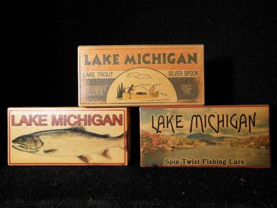 Lake Michigan Lake House Fishing Cabin Decor Lure By 4YourLake