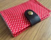 Card Organizer -  Red Polkadot (20 pockets card holder included)