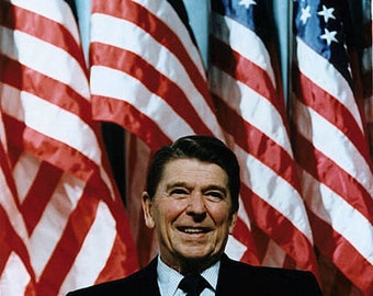Ronald Reagan Vintage image suitable for framing 8 1/2 x 11 reproduction image