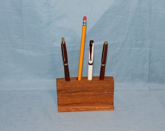 Repurposed, Recycled Wood Pencil Holder, Office Desk Accessory, Item 153