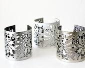 Silver Leather Lace Bracelet