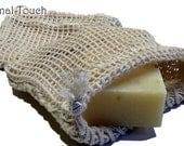 Natural Cotton Soap Bag - 4x 4.25 - Drawstring Closure - Great Packaging or Gift idea