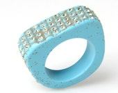 SIZE-8.5 Pave Lizard Ring - Turquoise by triian