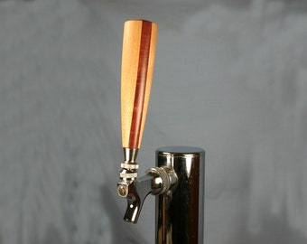 Wood Beer Tap Handle - Rock Maple and Purpleheart - 5.5 inches tall - Made to Order