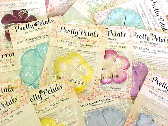 BIG Batch Pretty Petals By Sirocraft Colorful Lot Variety Flowers Millinery Supplies