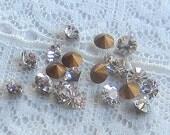 PP27 / SS14 Swarovski Rhinestone Crystal Clear Round Vintage Glass Jewel Qty 20