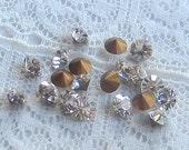 PP27 / SS14 Swarovski Rhinestone Crystal Clear Round Vintage Glass J