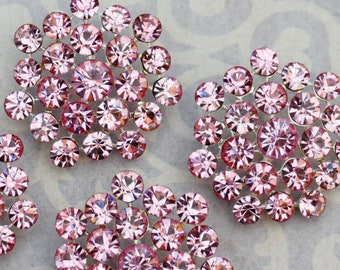 4 or 8 pieces - 25mm Metal Silver Plated PINK Crystal Rhinestone Buttons - wedding / hair / dress / garment accessories Flower Center