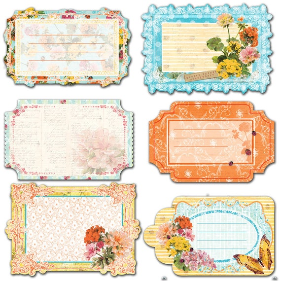BRAND NEW: Notecards in a Pouch Zephyr Journaling Cards Die cuts in a Pouch for scrapbooking cardmaking album and many more