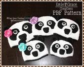 Crochet Panda Hat Pattern, Bear Beanie, AMANDA and PAUL PANDA - pdf 105