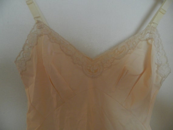 LAST Chance Price--Vintage Beige Tan 'Jean Atkins' Full Slip- Small 34  Short.