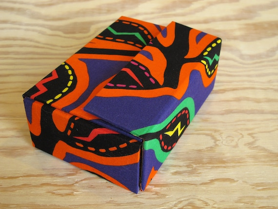 4x6 African 3D Scrap Box with Yellow Lining