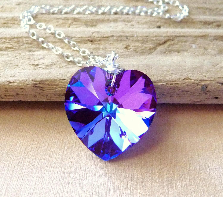 valentines day gift swarovski crystal heart necklace by. Black Bedroom Furniture Sets. Home Design Ideas