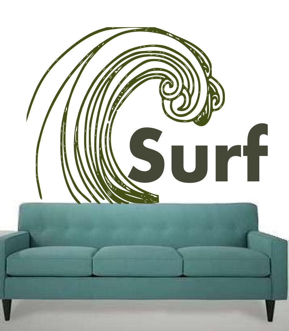 Cool Surf Stickers Big surf baby - retro inspiredCool Surf Stickers