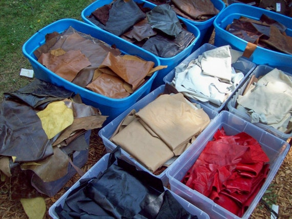 MD     7 pounds of leather cowhide remnants