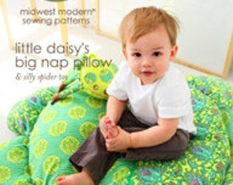 """Amy Butler Midwest Modern Sewing Patterns """"Little Daisy's Big Nap Pillow & Silly Spider Toy"""""""