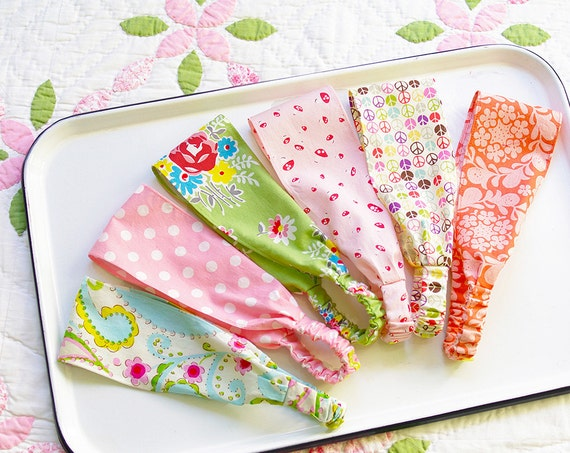 Wide Headbands Set of 3- choose from 42 different patterns