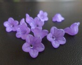 Lucite Flower Beads Purple 13mm X 7mm (Item Number PL56013)