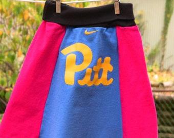 Repurposed Pitt Skirt Girls Size 4/5T