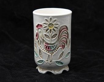 Ceramic Rooster Tumbler by Napco C7603