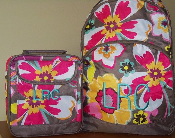 Girls Backpack and Lunch Box Set FREE PERSONALIZATION
