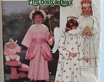Vintage Cabbage Patch Kids Costume Pattern - Sewing - 3490 - Transfers - Children/Girls  XS S M L