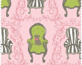 Blend Fabrics, Cushion and Dust Chairs (Pink) 11010202 1 1 yard