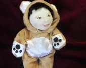 "Bear Suit for a 7"" baby rag doll Reserve Listing for smilealot"