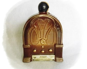 Old Fashioned Radio Old Microphones James Jim Beam Decanter  PPB