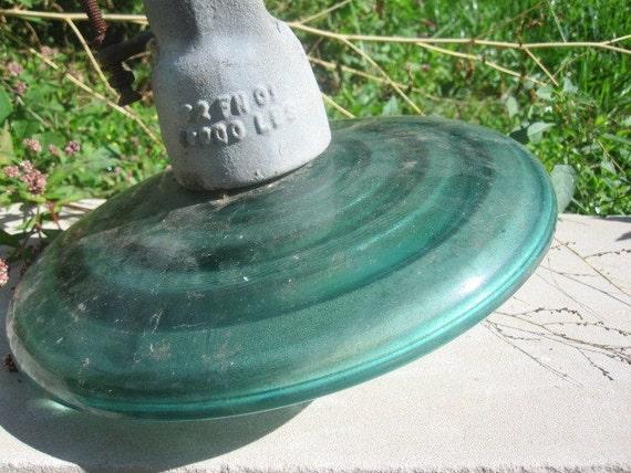 Big Old Glass Insulator For Decoration Or Repurpose