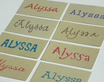 Large Custom Name Olive Wood Custom Name Stamp - 8 Font Choices