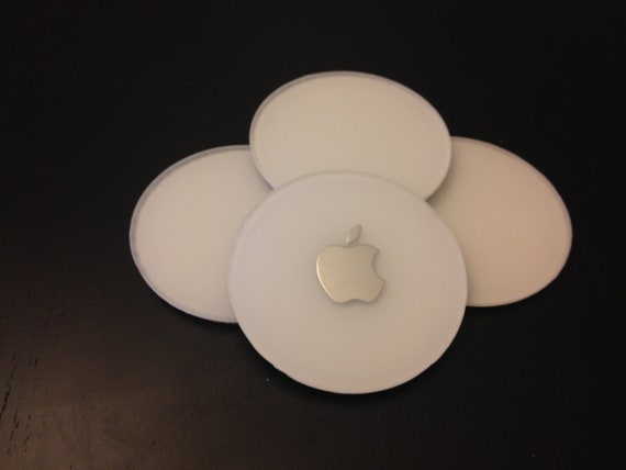 4 inch drink coasters made from recycled iMac G4s