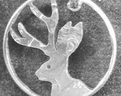 Jackalope Dime Hand Cut Coin Jewelry