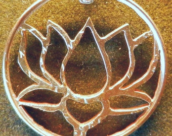 Lotus Hand Cut Coin Jewelry