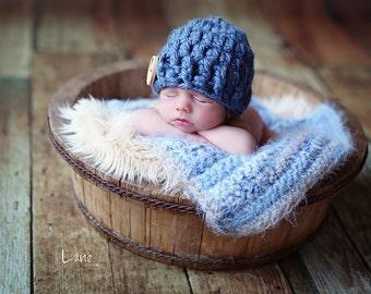 Newborn photo prop baby  blanket  angel hair  basket bowl bucket  18 x 22