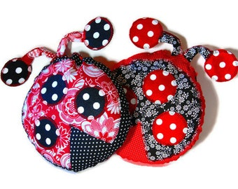 Ladybug Pillows Baby Toddler Kids Children, Baby Shower Gift, Custom Made to Order to Match Your Childs Room Decor - Set of Two