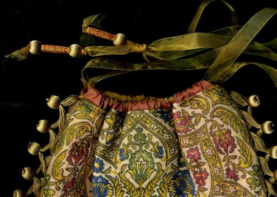 Vintage Woven Floral Bag - Elegant Bag with Ethnic Overtones