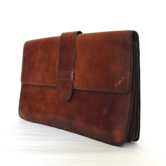 Hazelnut Brown - Vintage Leather Clutch